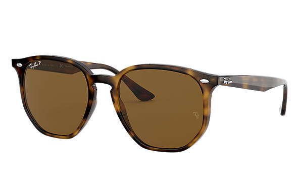 Ray-Ban Occhiali-da-sole RB4306 Light Tortoise con lente Marrone Classica B-15