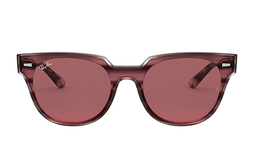 Ray-Ban Sunglasses BLAZE METEOR Striped Bordeaux Havana with Violet Classic lens