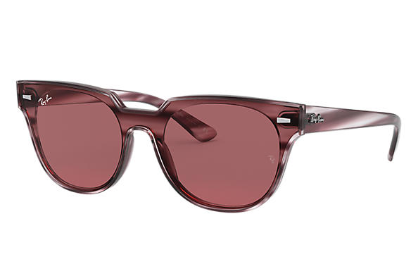 Ray-Ban 0RB4368N-BLAZE METEOR Striped Bordeaux Havana SUN