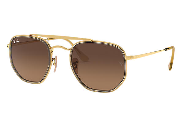 Ray-Ban 0RB3648M-MARSHAL II Or,Marron clair; Or SUN