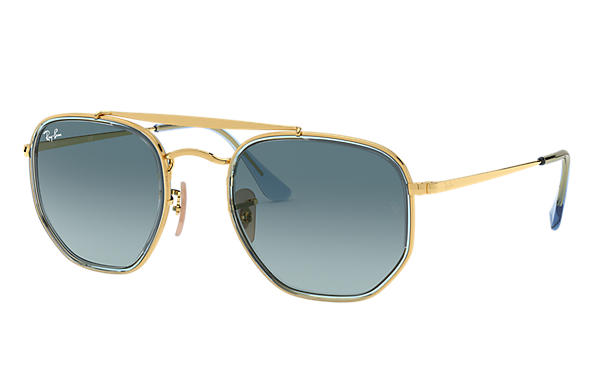 Ray-Ban 0RB3648M-MARSHAL II Gold,Light Blue; Gold SUN