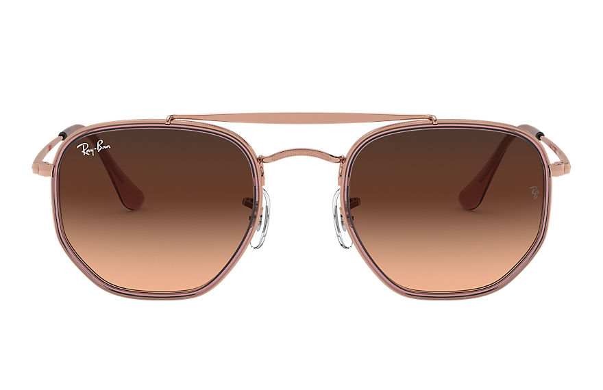 Ray-Ban  occhiali da sole RB3648M MALE 006 marshal ii bronzo rame 8056597073202