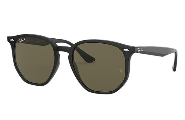 Ray-Ban Sunglasses RB4306F Black with Green Classic G-15 lens
