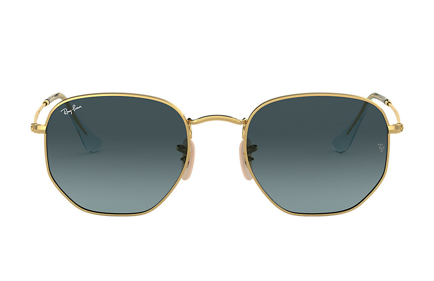 Ray-Ban  sunglasses RB3548N UNISEX 004 hexagonal flat lenses polished gold 8056597077286