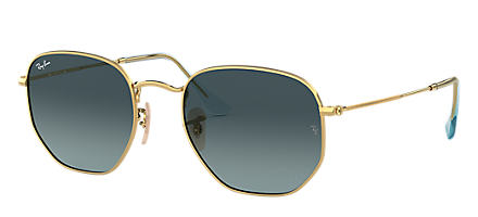 abfd43627f Ray-Ban HEXAGONAL FLAT LENSES Gold with Blue Gradient lens