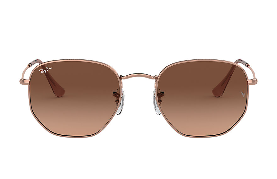 Ray-Ban  sunglasses RB3548N MALE 004 hexagonal flat lenses bronze copper 8056597077316