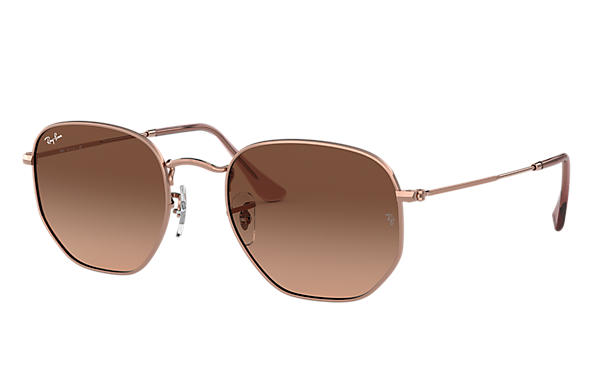 Ray-Ban 0RB3548N-HEXAGONAL FLAT LENSES Bronze-Copper SUN