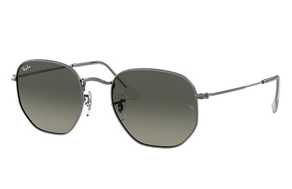 Ray-Ban 0RB3548N-HEXAGONAL FLAT LENSES Gunmetal SUN