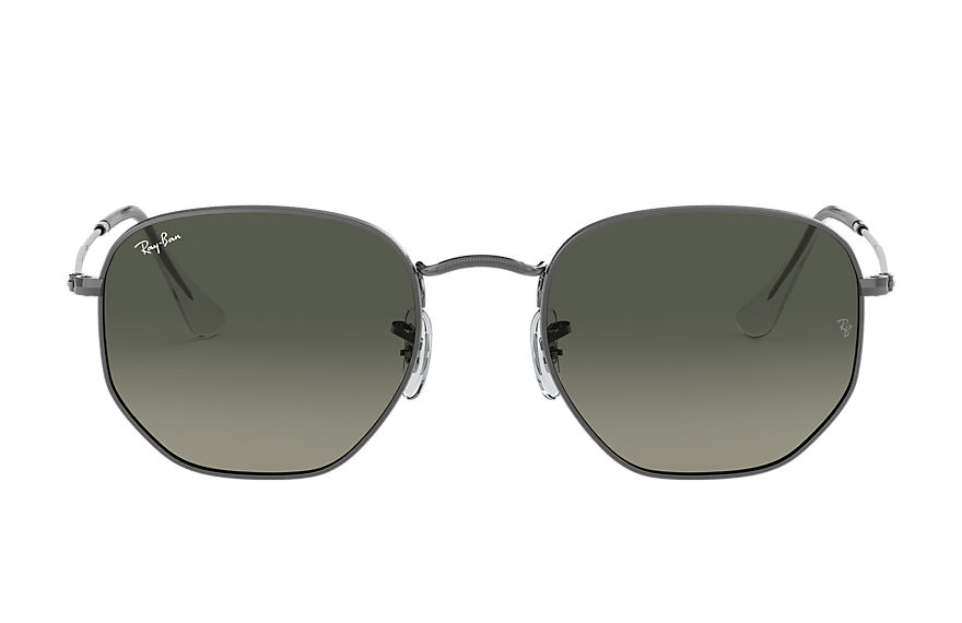 Ray-Ban  sunglasses RB3548N UNISEX 005 hexagonal flat lenses polished gunmetal 8056597077354