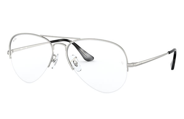 Ray-Ban 0RX6589-AVIATOR GAZE Plateado OPTICAL