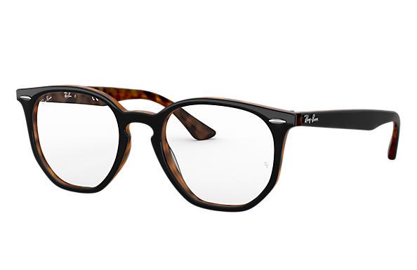 72a91f3710730 Ray-Ban prescription glasses Hexagonal Optics RB7151 Tortoise ...
