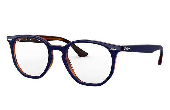 Ray-Ban 0RX7151-RB7151 HEXAGONAL OPTICS Blu,Tartaruga OPTICAL