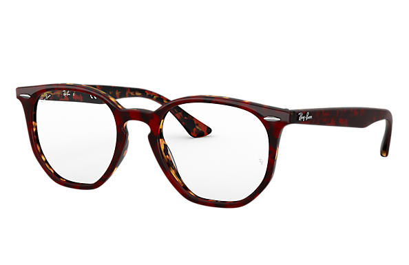 Ray-Ban 0RX7151-RB7151 HEXAGONAL OPTICS Rouge Havana,Havane OPTICAL