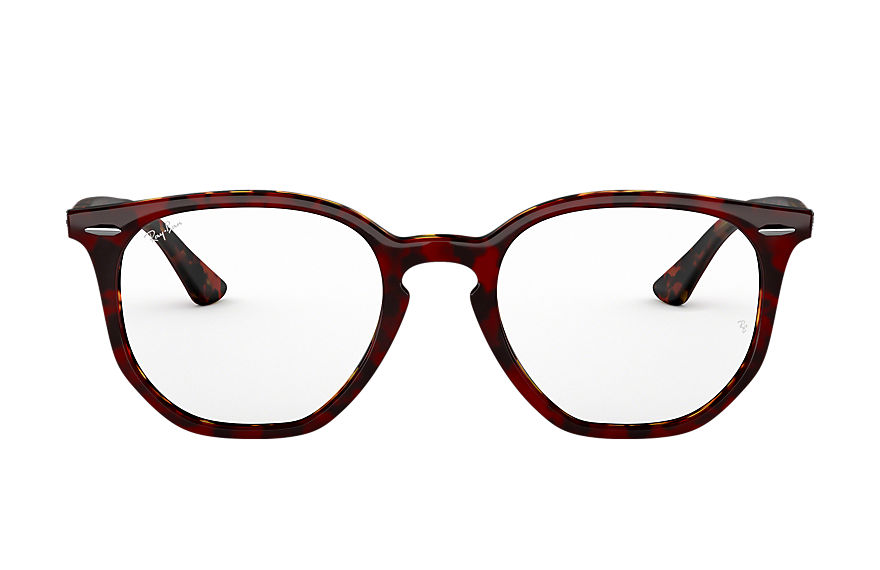 Ray-Ban  eyeglasses RX7151 UNISEX 011 rb7151 hexagonal optics rood havana 8056597079624