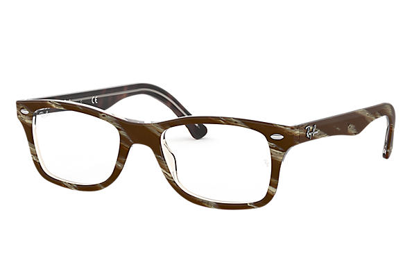 Ray-Ban 0RX5228-RB5228 Striped Brown OPTICAL