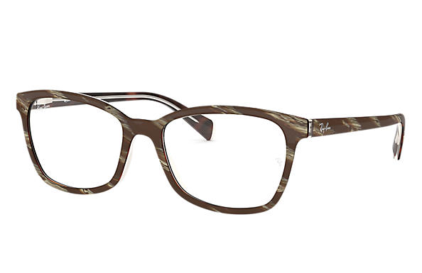 Ray-Ban 0RX5362-RB5362 Striped Brown OPTICAL