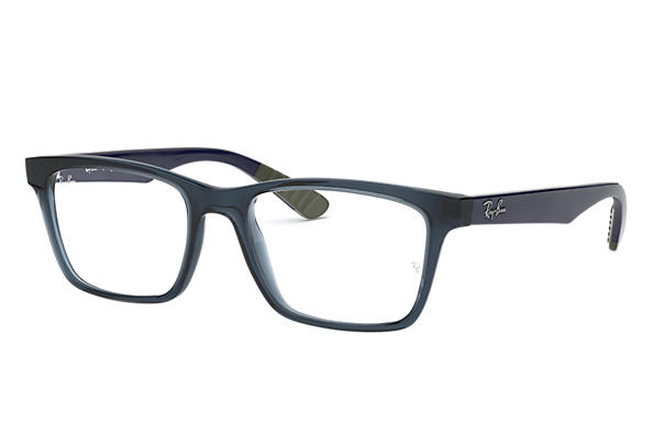 Ray-Ban 0RX7025-RB7025 Transparent Blue,Blu; Blu OPTICAL