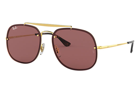7a0e9bb4c3 Ray-Ban Blaze General RB3583N Bronze-Copper - Steel - Red Lenses ...