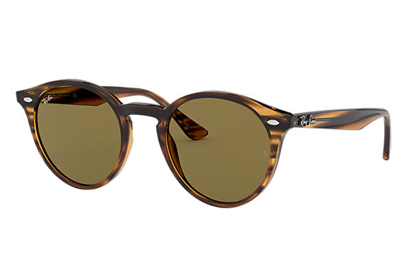 Ray-Ban RB2180 Striped Red Havana with Brown Classic B-15 lens