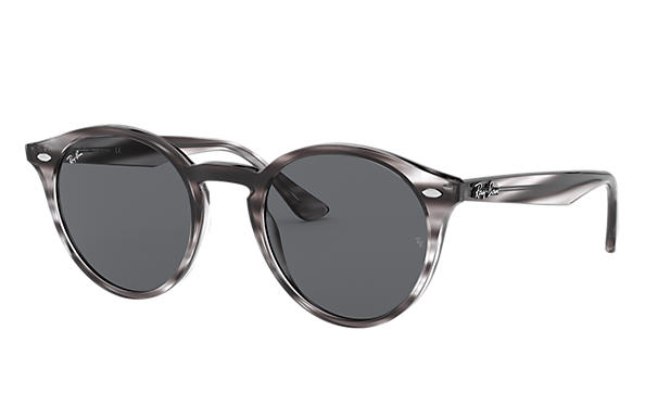 Ray-Ban 0RB2180-RB2180 Striped Grey Havana SUN