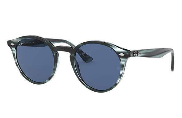 Ray-Ban Sunglasses RB2180 Striped Blue Havana with Dark Blue Classic lens