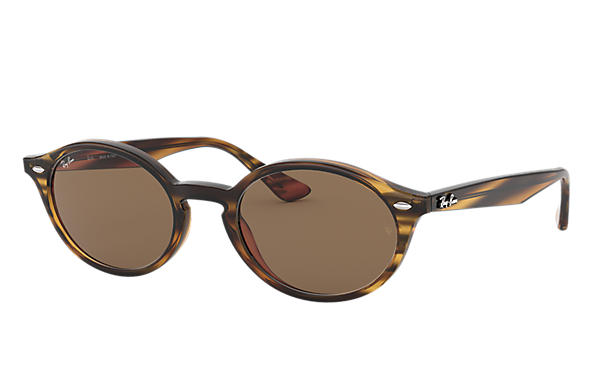 Ray-Ban 0RB4315-RB4315 Striped Red Havana SUN