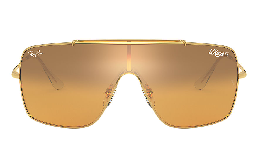 Ray-Ban  sunglasses RB3697 MALE 001 wings ii gold 8056597087094