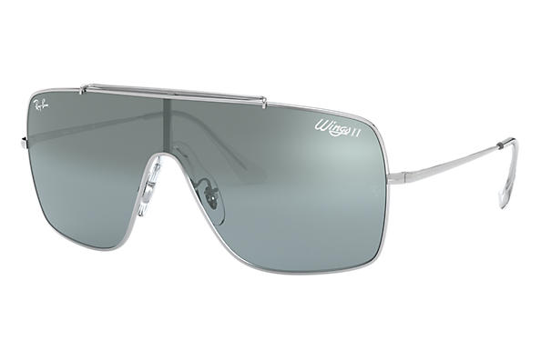 Ray-Ban 0RB3697-WINGS II Argent SUN