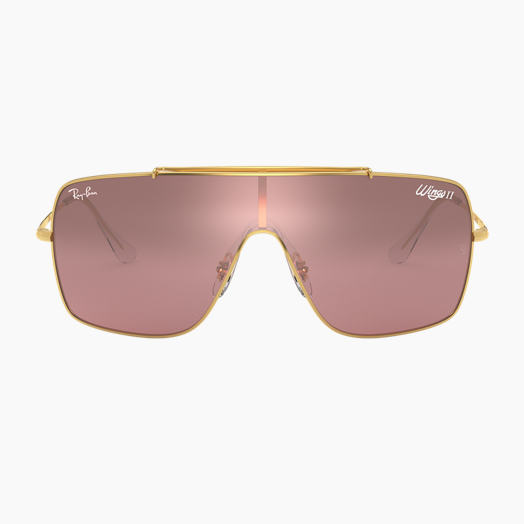f0aab7d12 Ray-Ban WINGS II Gold with Silver/Pink Gradient Mirror lens