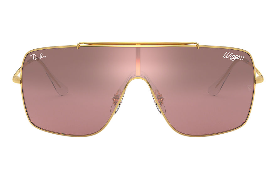 Ray-Ban  sunglasses RB3697 MALE 004 wings ii gold 8056597087124