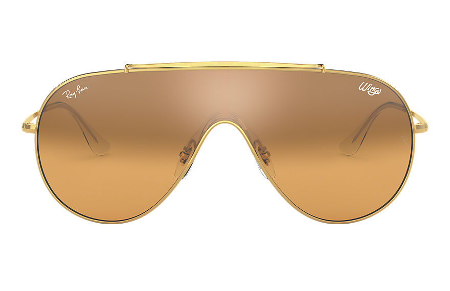 Ray-Ban  occhiali da sole RB3597 UNISEX 008 wings oro 8056597087254