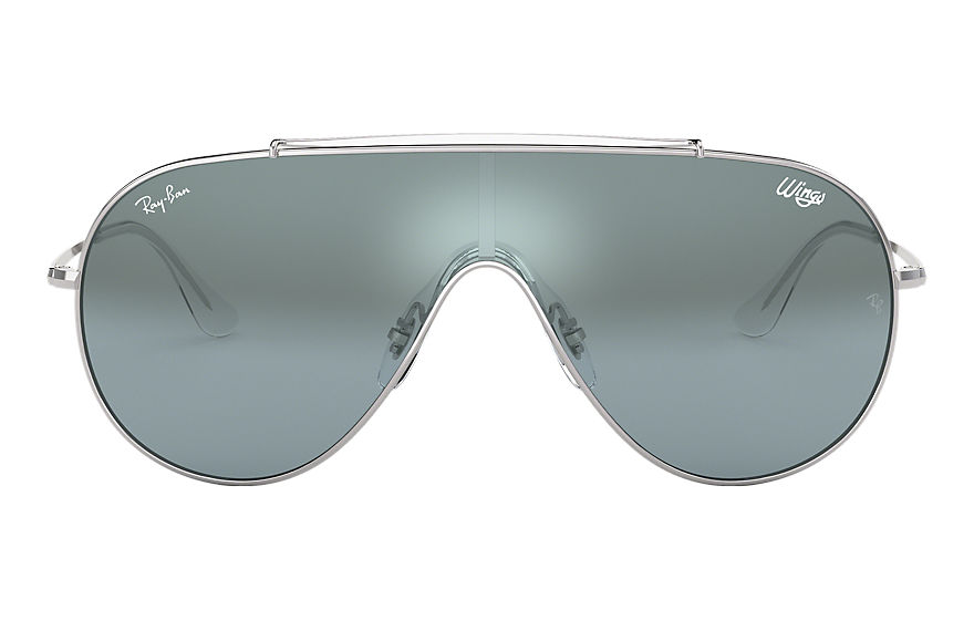 Ray-Ban  occhiali da sole RB3597 UNISEX 007 wings argento 8056597087285