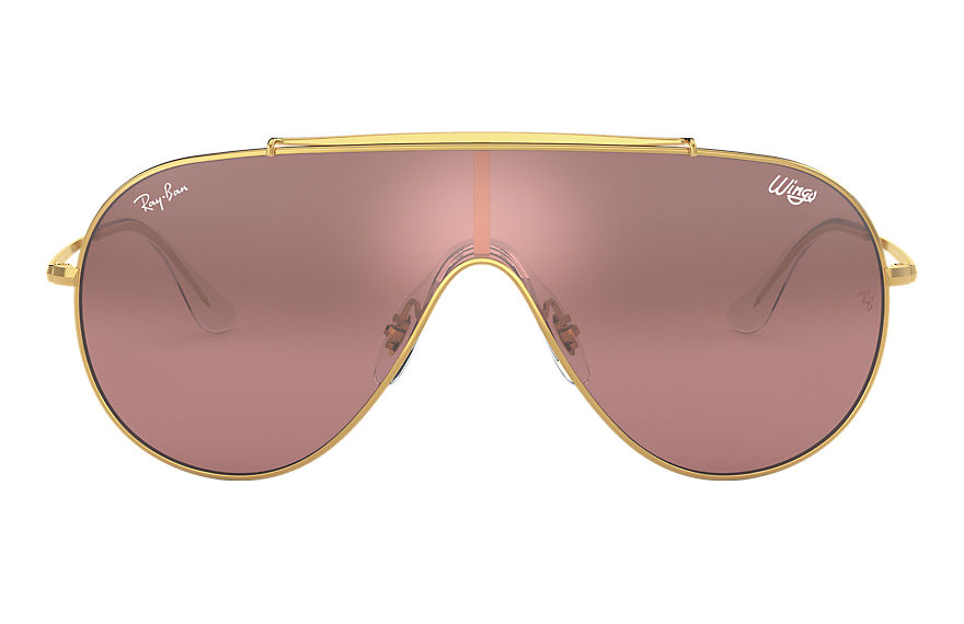 Ray-Ban  occhiali da sole RB3597 UNISEX 009 wings oro 8056597087292