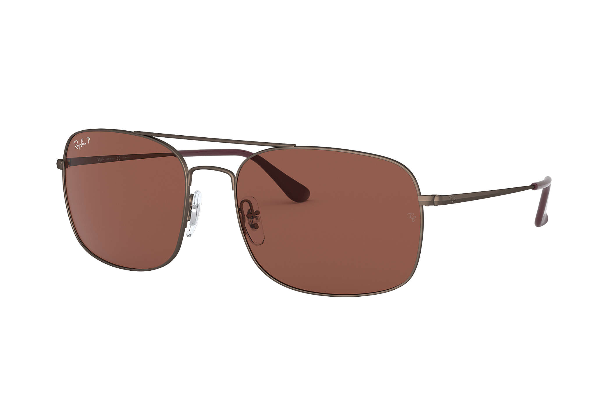245f934c37 Ray-Ban RB3611 Brown - Steel - Purple Polarized Lenses - 0RB3611012 ...