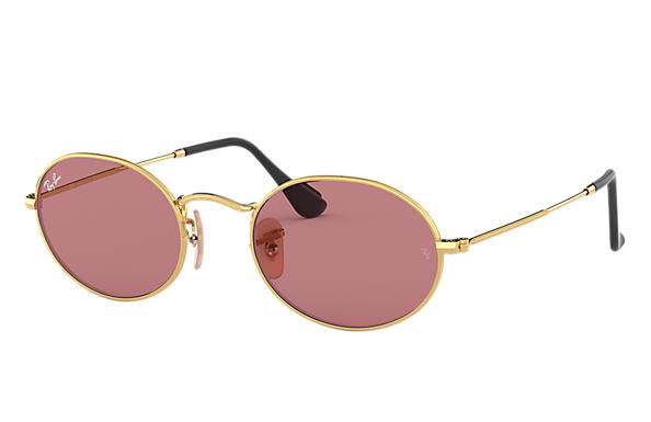 Ray-Ban OVAL BY PEGGY GOU Gold with Violet Classic lens