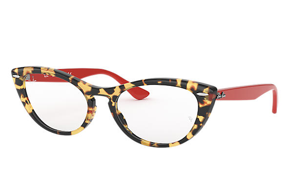 Ray-Ban 0RX4314V-NINA OPTICS Tortoise; Red OPTICAL
