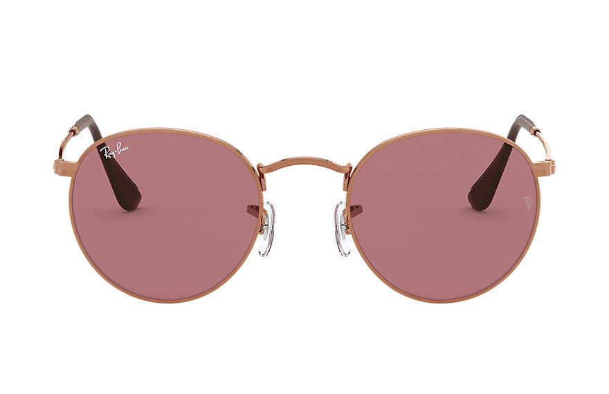 Ray-Ban  sunglasses RB3447 UNISEX 008 round metal online exclusive bronze copper 8056597097574