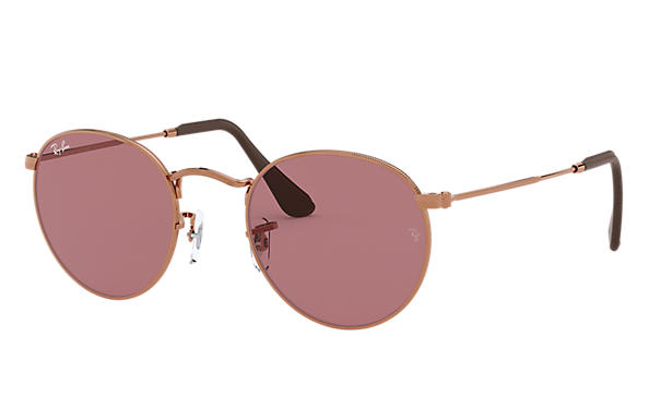 Ray-Ban 0RB3447-ROUND METAL @Collection Bronze-cuivre SUN