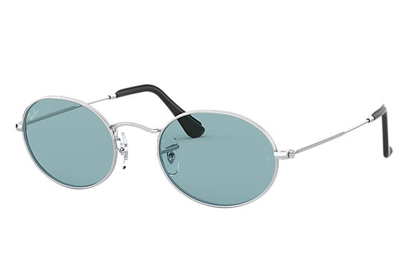 Ray-Ban Sunglasses OVAL @Collection Silver with Blue Legend lens