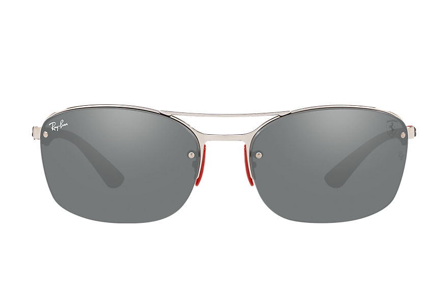 Ray-Ban RB3617M SCUDERIA FERRARI USA LIMITED EDITION Silver with Grey Mirror lens
