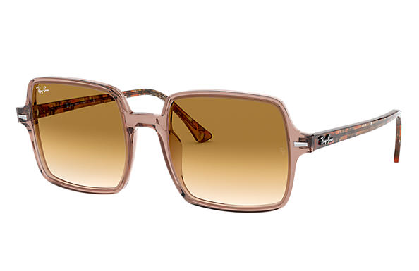 Ray-Ban 0RB1973-SQUARE II Transparent Brown; Brown Havana,Brown SUN