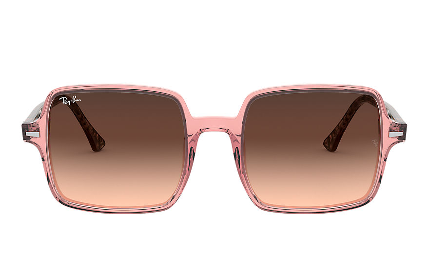 Ray-Ban  sunglasses RB1973 FEMALE 001 square ii transparent pink 8056597121927