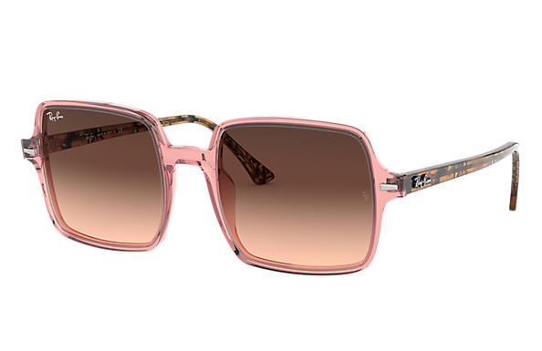 Ray-Ban 0RB1973-SQUARE II Transparent Pink,Rose; Brown Havana,Havane SUN
