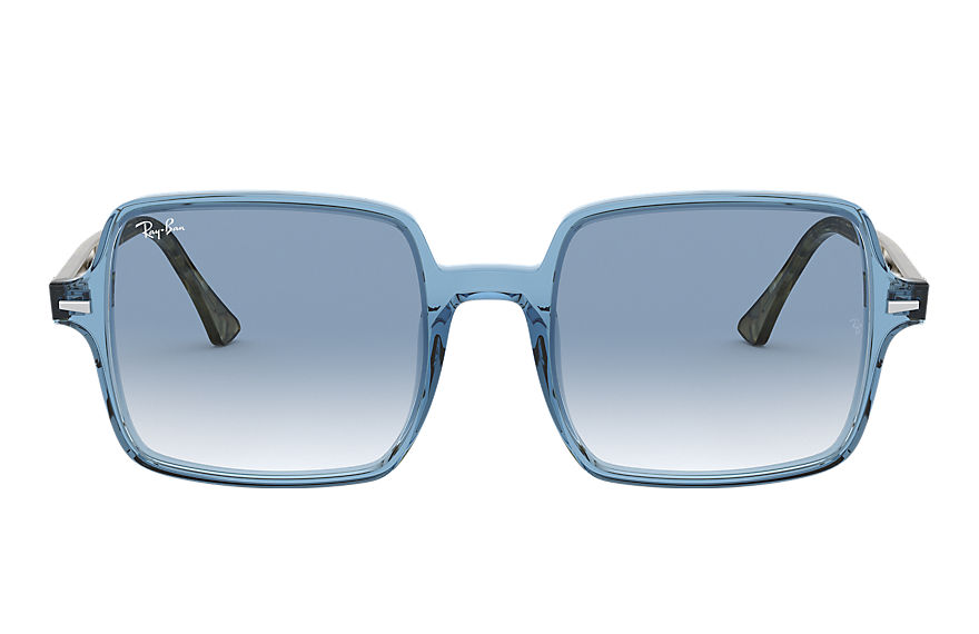 Ray-Ban  sunglasses RB1973 FEMALE 001 square ii transparent blue 8056597121941