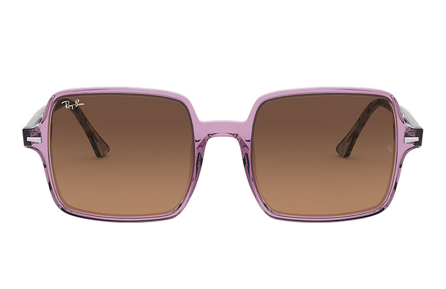 Ray-Ban  sunglasses RB1973 FEMALE 001 square ii transparent violet 8056597121965