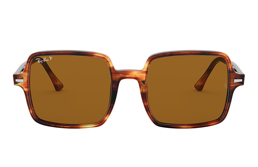 Ray-Ban Sunglasses SQUARE II Tortoise with Brown Classic B-15 lens