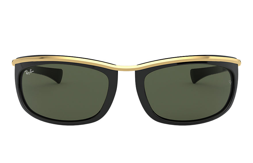 Ray-Ban Sunglasses OLYMPIAN I Black with Green Classic G-15 lens