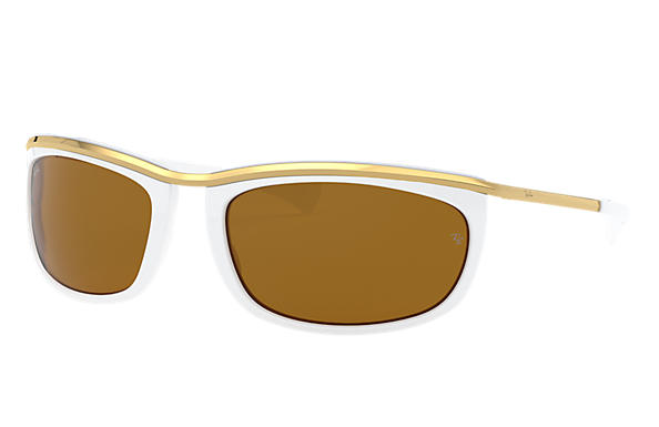 Ray-Ban 0RB2319-OLYMPIAN I White; Gold SUN