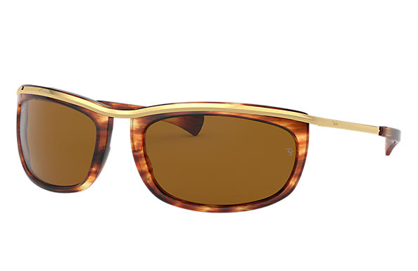 Ray-Ban 0RB2319-OLYMPIAN I Havane; Or SUN