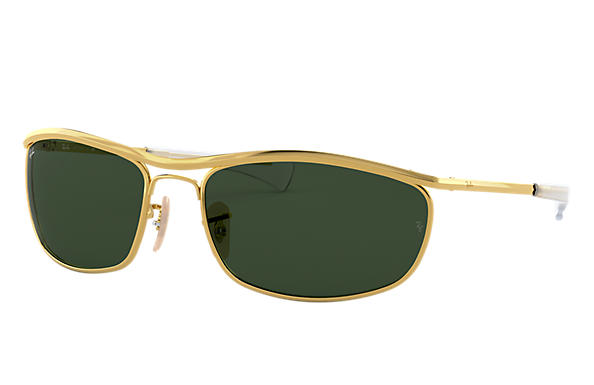 Ray-Ban Sunglasses OLYMPIAN I DELUXE Gold with Green Classic G-15 lens